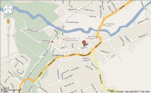 Map of Godalming Location